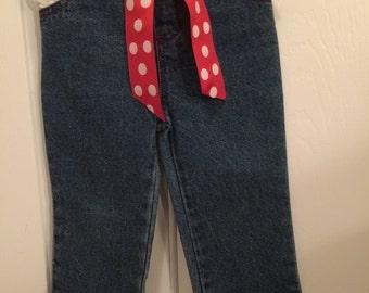 Baby girl Jeans  Happy Valentine's Day