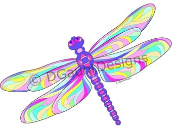 Dragonfly Color Print for Download