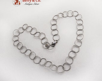 Light Chain Link Necklace Sterling Silver
