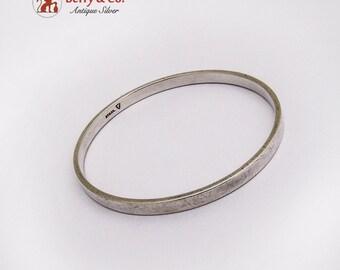 Minimalist Sterling Silver Bangle Bracelet