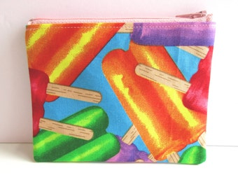 Popsicle Fabric Zipper Pouch // Popsicle Pouch // Stocking Stuffer