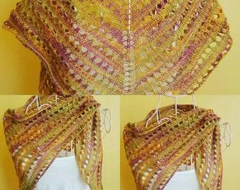 Shawl /Neckerchief/ Cover up purple shawl