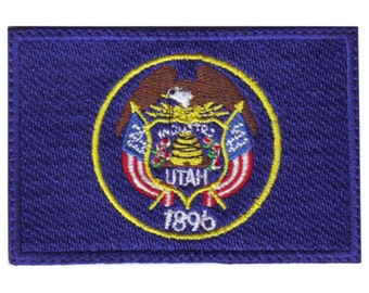 Utah Flag Embroidered  Patch