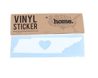 Tennessee Heart Decal Car or Laptop Sticker by Home State Apparel