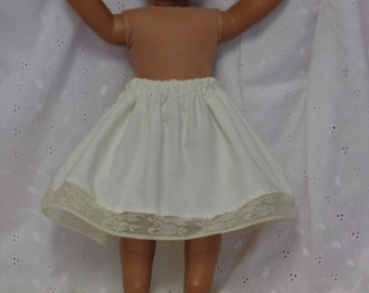 7 Inch-Ivory Cotton 1/2 Slip for an 18 Inch Doll American Girl-Shown on my American Girl Doll