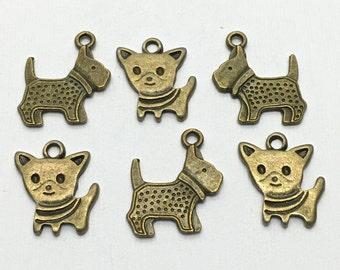 6 dog chams bronze tone 21mm #CH298