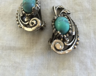 Turquoise Clip On Earrings  #22