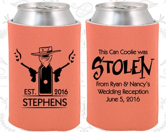 Stolen From (C581) Personalized Wedding Favors, Stolen from Wedding, Cowboy Wedding Favors, Country Wedding Favors, Wedding Can Coolers