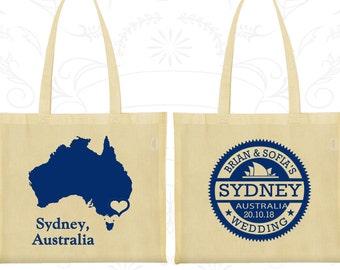 Australia Tote Bags, Australia Wedding, Personalized Canvas ToteBag, Destination Wedding Bags, Tote Bag Canvas, Sydney Tote Bags (155)