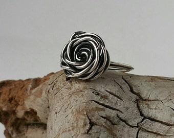 Sterling Silver Rosette Ring ~R1495