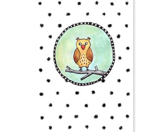 "Postcard ""Owl"""