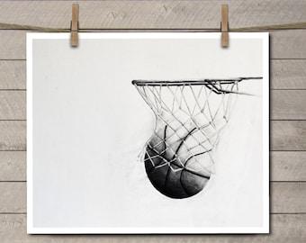 Basketball Decor - Basketball Art - Basketball Room Decor - Basketball Room Art - Kids Room Art