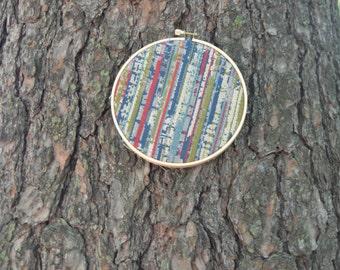 Embroidery Hoop Art / Fabric Hoop Art / Handmade Decor / Bohemian Fabric Wall Hangings / Nursery Decor / Textile Gifts / Gallery Wall Art
