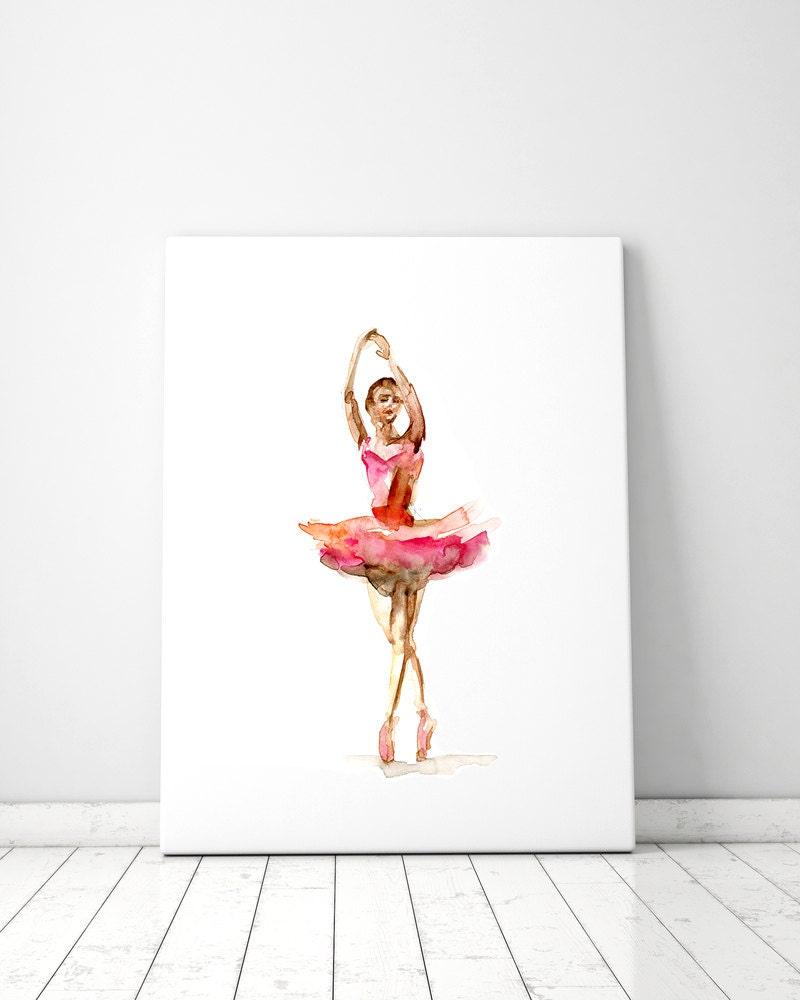 ballet dancer watercolor painting giclee art print ballerina