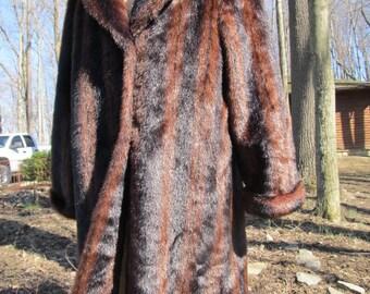 Beautiful Vintage Fake or Faux Fur Coat