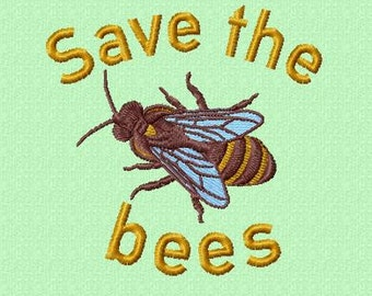 Embroidery pattern - Save the bees