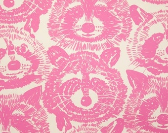 Alexander Henry - Rocky Raccoon - #8437A - Pink