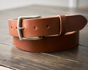 Leather Belt for men, Mens Belt, Mens Leather Belt, Full Grain Leather belt, Custom Made - Bourbon