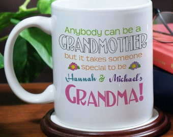 Personalized Anybody Can Be A Grandmother Personalized Coffee Mug