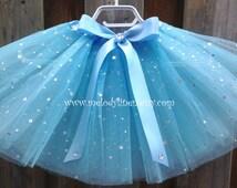 Cinderella tutu,Cinderella birthday party favor,princess tutu,Cinderella light blue tutu,serenity tutu,Cinderella birthday tutu outfit