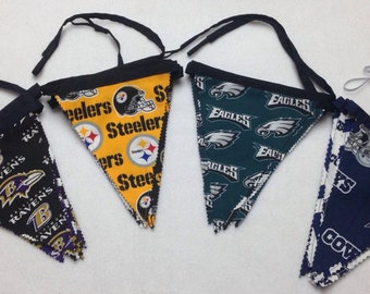 Reusable NFL Fabric Garland,Party Decoration,Tailgate Decoration-*Cowboys*Ravens*Eagles    *Steelers