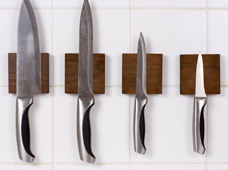 Portacuchillos bloque de cuchillos una pared magn tica - Iman para cuchillos ...