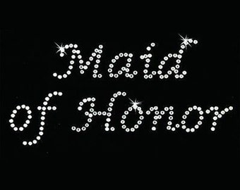 Rhinestone Transfer - Hot Fix Motif - Maid of Honor - Lucinda