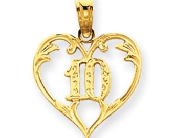 Cut-Out 10 in Heart Pendant (JC-900)