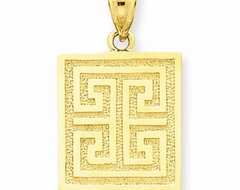 Greek Key Pendant (K2799)
