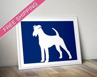 Irish Terrier Print - Irish Terrier Silhouette, Irish Terrier art, dog portrait, modern dog home decor