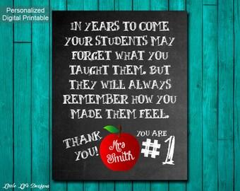 Gift for Teacher Classroom Sign. Teacher Appreciation Gift. Personalized Teacher Gift. Customized Gift for Teacher. Teacher End of year Gift