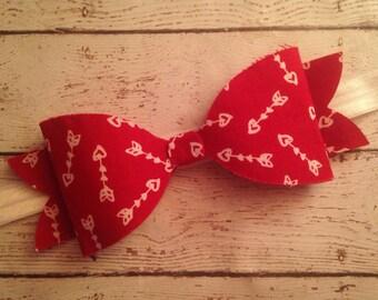 Cupid's Arrow Bow Headband..Valentine's Day Headbands