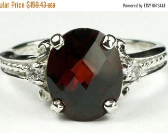 Summer Sale, 30% Off, SR136, Mozambique Garnet, 925 Sterling Silver Ring