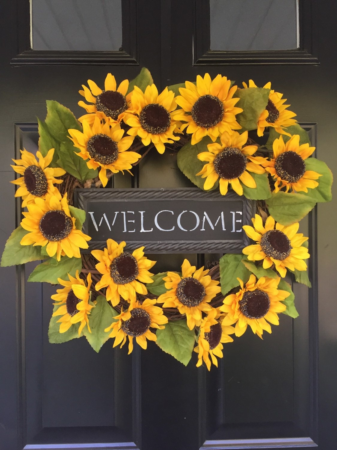 Sunflower Wreath Welcome Wreath Summer Wreath Wreaths