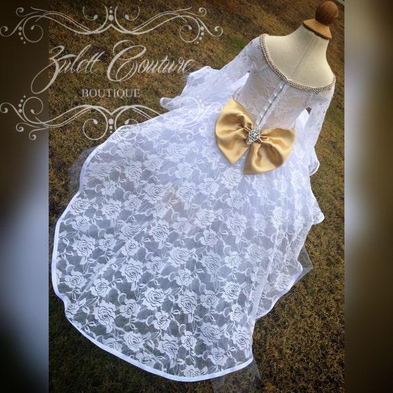 Baptism Dress Mini Bride Dress Flower Girl By Zulettcouture