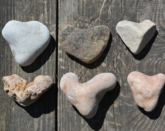 Stone Hearts Natural Heart Shaped Stones Jewelry Supply Love Rock