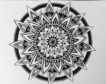 Hand drawn Mandala Zentangle doodle