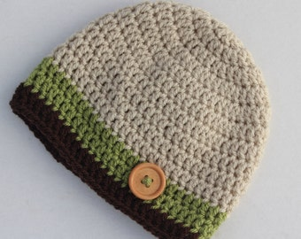 Baby boy crochet hat, baby beanie, winter hat, crochet beanie, crochet hat, baby hat, infant hat, toddler hat - MADE TO ORDER