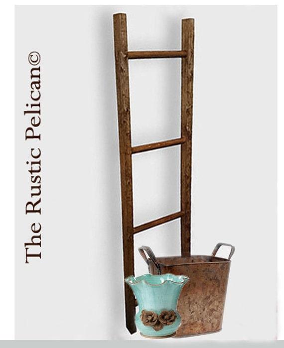 Rustic Bathroom Ladder Farmhouse Ladder Rustic 6ft 4ft