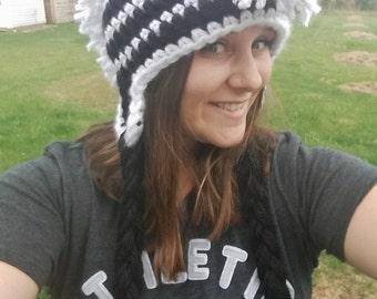 Zebra Mohawk Hat