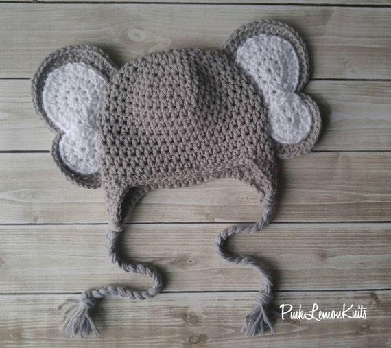 Items similar to Elephant hat, knit elephant hat, boy girl, boy winter hat, g...