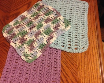 Hand Crocheted Spa Cloths