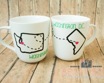 Long Distance Friendship//Best friends//distance//BFF//bestie Coffee Mugs