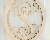 """22"""" oval monogram door hanger, monogrammed wooden wreath, monogram door hanger,wedding gift, personalized monogram, front door"""