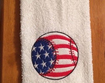 Embroidered ~USA BASEBALL~ Special Order Hand Towel