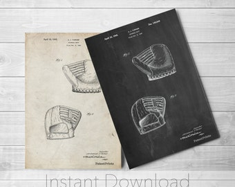Baseball Mitt Printables, Antique Baseball, Boys Room Wall Art, Baseball Coach Gift, Vintage Baseball Decor, PP0538