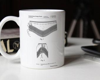 Belly Dancing Belt Mug, Belly Dancing Belt Patent, Belly Dancing Belt Mug, Belly Dancing Belt Decor, Belly Dancing Belt Mug PP0685