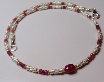 Ruby Necklace  Oval   (  JK752)