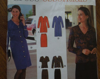 Simplicity 9792, sizes 8-14, dress,  top and skirt, petite, misses, womens, UNCUT sewing pattern, craft supplies