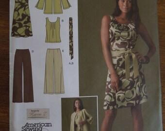 Simplicity 2938, sizes 10-18, misses, womens,teens,  dress, top, pants, jacket, belt, UNCUT sewing pattern, craft supplies